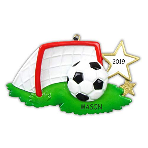 (DIBSIES Personalization Station Personalized Soccer Sports Christmas Ornament)