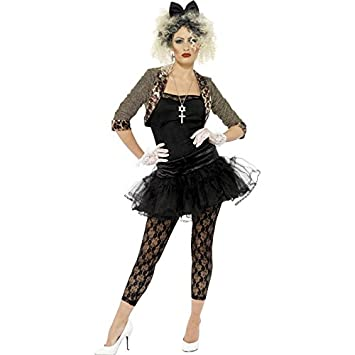 14d8862b4 Smiffy's Smiffys-36233M Disfraz de Enfant Terrible de los 80, con Chaqueta,  Parte de Arriba, tutú, Color Negro, M - EU Tamaño 40-42 36233M