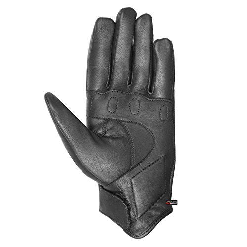 Men/'s Premium Leather Street Motorcycle Protective Cruiser Biker Gel Gloves