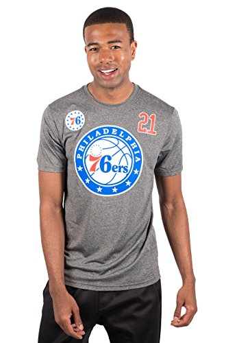 Shirt Steve Nash - NBA Joel Embiid Philadelphia 76ers Men's T-Shirt Short Sleeve Tee Shirt, Small, Charcoal