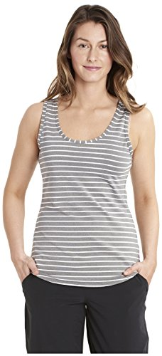 LOLE Women's Twist Tank, White Stripe, -