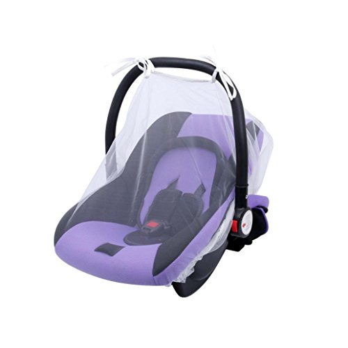 Price comparison product image Baby Mosquito Net for Strollers, Carriers, Car Seats, Cradles, Iuhan Baby Crib Seat Mosquito Net Newborn Curtain Car Seat Insect Netting Canopy Cover (White)