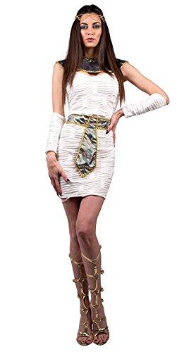 [Pyramid Scheme Costume Womens Egyptian Goddess Cleopatra Fancy Dress Roman MD-XL] (Roman Goddess Xlarge Costumes)