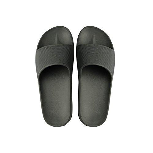 Unisex Indoor Huis Slippers Koppels Skid-proof Huis Antislip Binnenshuis Schoenen Badkamer Sandaal Zwart