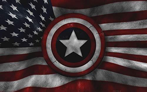 Marvel Captain America Shield Iron On Transfer for T-Shirts & Other Light Color Fabrics #4 Divine Bovinity (Diy Captain America Shirt)