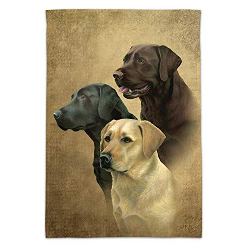 - Graphics and More Labrador Retriever Trio Dogs Portrait Garden Yard Flag (Pole Not Included)