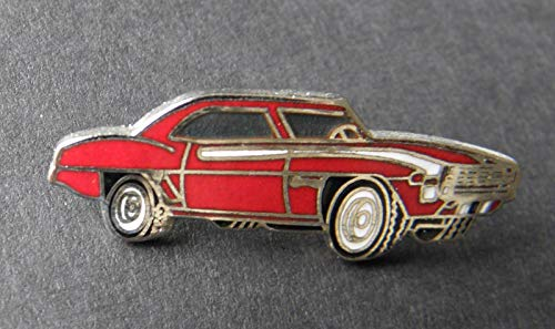 - Pin for Jackets - 1969 Chevy Camaro Chevrolet RED Automobile CAR Lapel HAT PIN 1 INCH - Accessories for Men and Women