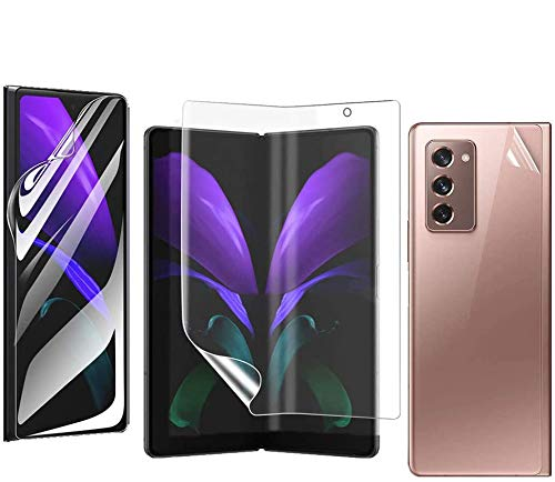 Screen Protector Film Compatible with Galaxy Z Fold 2 , Front + Middle + Back Anti-Glare Screen Protector Frosted Soft Film Fits for Samsung Galaxy Z Fold 2 Clear Skin