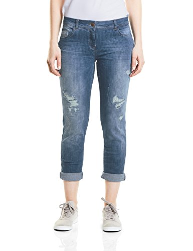 Blue Straight Cecil Jeans Donna Blu mid 10240 Used Wash Uw4XqO4