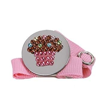 Amazon.com: Binky Bling chupete holder-cupcake: Baby