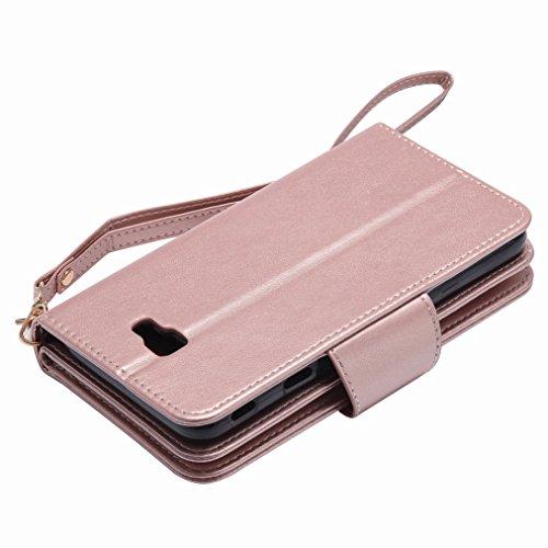 Yiizy Samsung Galaxy J7 Prime / Galaxy On Nxt Custodia Cover, Ragazza Goffratura Design Sottile Flip Portafoglio PU Pelle Cuoio Copertura Shell Case Slot Schede Cavalletto Stile Libro Bumper Protettiv