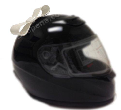 White-Motorcycle-Helmet-Bow-For-Bike-Helmet-Motocross-helmet-Full-Face-Biker-Helmet