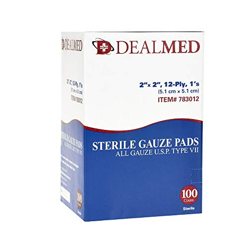 Dealmed Sterile Gauze Pads, Individually Wrapped Absorbent 2