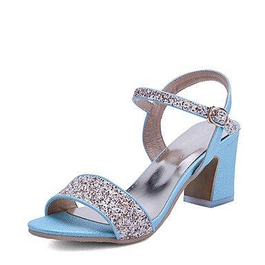 Zapatos Rosa Noche Blue Boda Tacón Mujer y Semicuero D'Orsay Blanco Dos club Otro Vestido Sandalias Piezas LvYuan Fiesta y Azul Robusto del 8H7x1axq