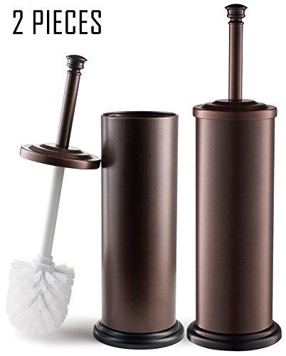 Estilo EST0105B-2 Stainless steel Toilet Brush & Holder, Bronze (Pack of 2),, by Estilo