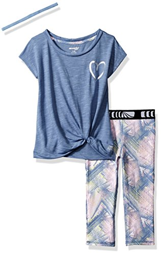 Marika Toddler Girls' Capri Sets With Headband, Country Blue, 3T (Toddler Girls Capri Set)