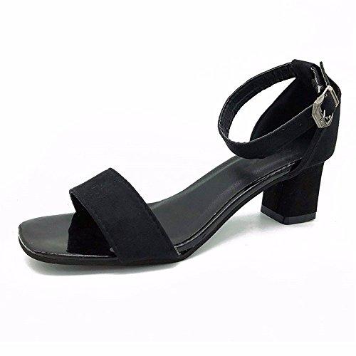 alto tacco YMFIE sandali tacco scarpe alto estate moda toe Donna con alla a temperamento cinghia caviglia UqqBxwfO