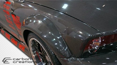 2005-2009 Ford Mustang Carbon Creations Hot Wheels Wide Body Front Fenders - 2 ()