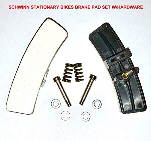 Pair of Schwinn Indoor Cycle Brake Replacement KIT with Hardware for Schwinn Indoor Stationary Exercise Bikes/Cycles/Bicycles -NEW After Market Replacement for (OEM # 92874) | by SBD - Indoor Replacement