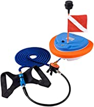 AQUAROBO Portable Diving Ventilator,Floating Diving Air Pump with Dive Flag for Scuba Diving and Underwater Ex