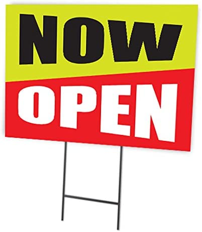 Now Open Full Color Double Sided Sign