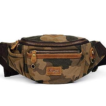Kemy s Canvas Fanny Pack Mens Waist Packs Travel Belt Bags Men Hip Bum Bag  Vintage for 730eb5168b6b7