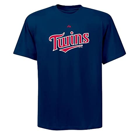5780bff6bd2 MLB Minnesota Twins Official Wordmark Short Sleeve T-Shirt by Majestic  (Athletic Navy