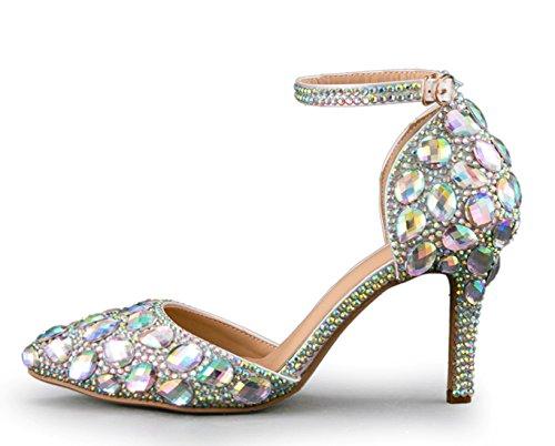 Silver Escarpins Femme Pour 9cm Minitoo mz8299 Heel Minitooeu qXC7A7