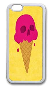 Apple Iphone 6 Case,WENJORS Adorable Skull Scoop Soft Case Protective Shell Cell Phone Cover For Apple Iphone 6 (4.7 Inch) - TPU White