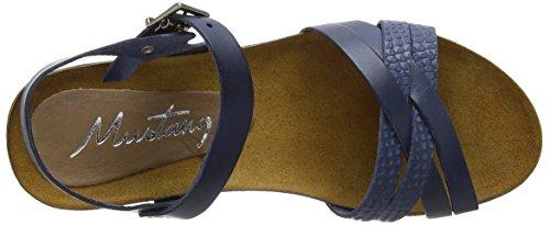 Sandales blau Bride 801 8 Cheville 2866 Bleu Mustang Femme 84tIqBzx