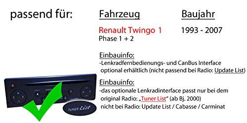 Spotify USB Einbauzubeh/ör Bluetooth Autoradio Radio Kenwood KMM-BT305 MP3 Android JUST SOUND best choice for caraudio iPhone Einbauset f/ür Renault Twingo 1