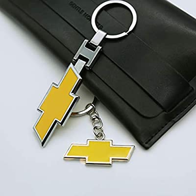 EVPRO 2 Pcs Key Rings Metal Chromed Auto Car Key Chain Fit for Chevy Accessories: Automotive