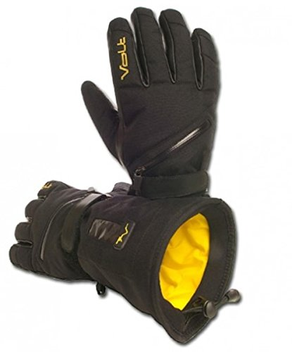 Men's Volt Heated snow gloves, Black, X-Large