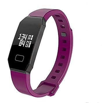 NEWYES presión Arterial Reloj Inteligente Fitness Tracker gestión Inteligente de Pulsera con pulsómetro spo2h sueño podómetro para Android iOS Smartphone, ...