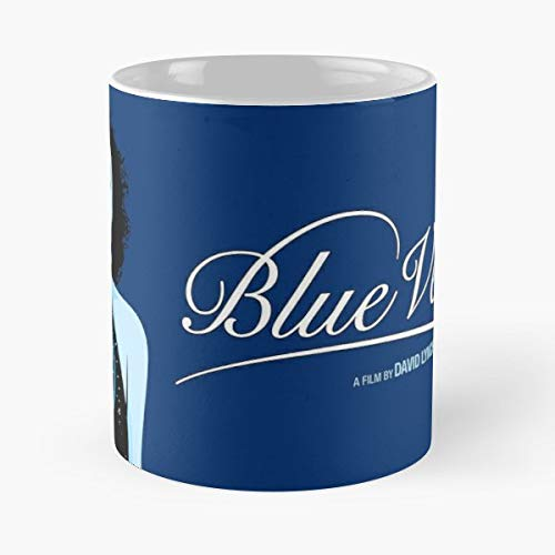 Blue Coffee Mug Gift 11 Oz Father Day (Kyle Maclachlan Isabella Rossellini Dennis Hopper Laura Dern)