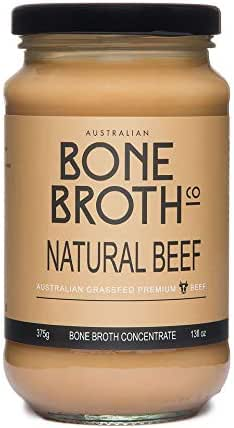 Australian Beef Bone Broth Concentrate - New 13 oz Jar (375 gram) - Natural Beef flavour - Super healthy nutrient dense concentrate - Great for soups, stock beverage drink. Made in Australia