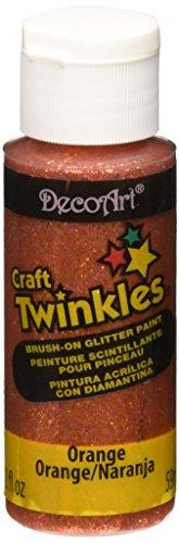 DecoArt Craft Twinkles 2 Ounce Orange