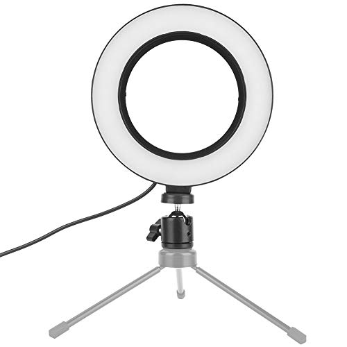 LED Ring Light, 6 inch Mini LED Camera Light, Dimbare LED Camera Light voor make-up, live, make-up, tatoeages, YouTube…