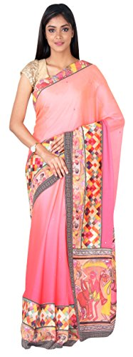 Simaaya Fashion Art Silk Saree With Blouse Piece SF-SP126571 Shaded Peach