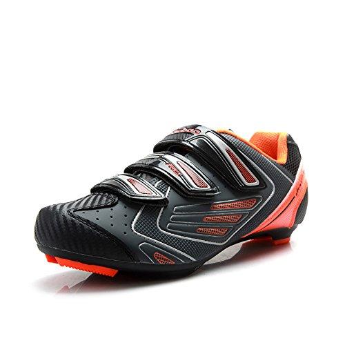 Tiebao New Road Cycling Schuhe für Männer Selbstsichernde rutschfeste Breathable Riding Shoes Orange