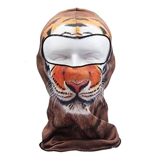 Camtoa Motorcycle Cycling Face Mask Breathable Anti Uv Face Mask Headgear Hats Lycra Balaclava Full Face Mask Neck Hood Animal Styles for Outdoor Sports Skiing Climbing 04
