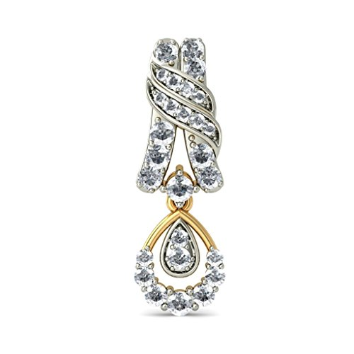 Or jaune 18 K 1.19 carat au total White-diamond (IJ | SI) Pendants d'oreilles