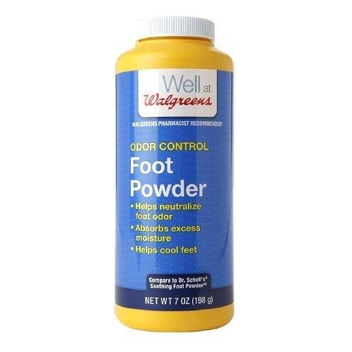Walgreens Odor Control Foot Powder 7 oz(pack of 2)