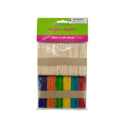Krafters Korner - Multi-Colored Mini Craft Sticks, 25/Pack (2 Pack)
