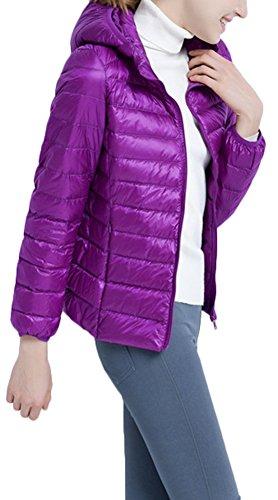 Donna Mochoose Piumino Invernale Cappuccio con Ultra Viola Zipper Rivestimento per Del Cappotto Giacche Leggero Parka Del Classico AAqrwZ4