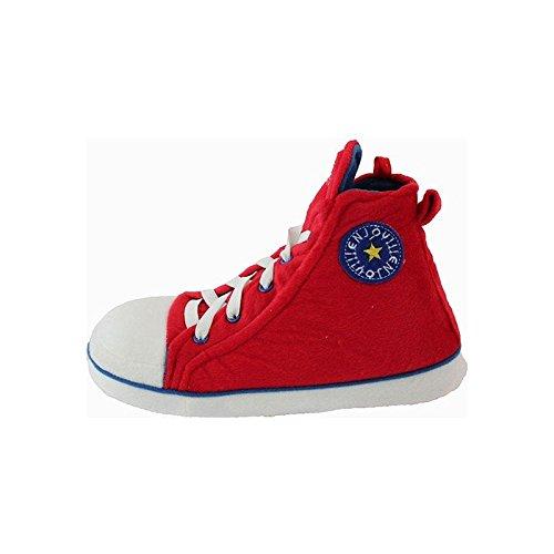 de fonseca - Zapatillas de estar por casa para hombre, color rojo, talla 7-8 UK
