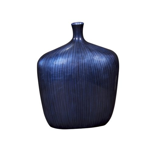 Howard Elliott 22076S Sleek Vase, Small, Cobalt -