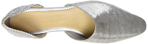 Melvin & Hamilton Women's Joolie 8 Closed Toe Sandals Silver (Lisbon/Woven/Silver/Ls Nat. Lisbon/Woven/Silver/Ls Nat.) xtui3f1