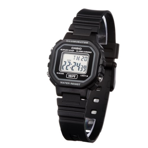Casio Women's Classic LA20WH-1A Resin Quartz Watch with Digital Dial- Black - Mens Quartz Black Resin