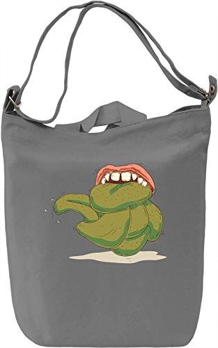 Green tongue Borsa Giornaliera Canvas Canvas Day Bag  100% Premium Cotton Canvas  DTG Printing 